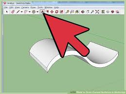 how to draw curved surfaces in sketchup 12 steps with pictures