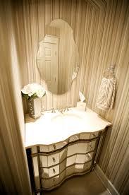 Half Bathroom Ideas With Pedestal Sink by White Marble Countertop Dark Brown Vanity Desk Mirrored Small
