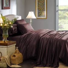 Espresso Silk Bed Linen From High Quality Mulberry Silk