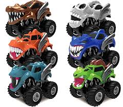 100 Big Truck Toys Vehicles Pack Of 6 Piece Monster Friction Powered