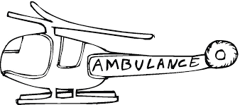 Ambulance Coloring Pages Helicopter Printable