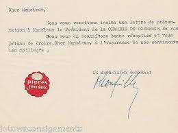 chambre de commerce espagnole en chambre de commerce franco espagnole 1940s autograph signed