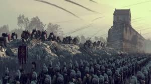 total siege londinium s burning in this total war attila siege battle