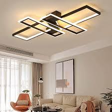 wohnzimmerle modern led decke dimmbar acryl lenschirm deckenleuchte chic eckig designer le esszimmer esstischle fernbedienung deko