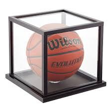 Wooden Basketball Display Case The Container Store