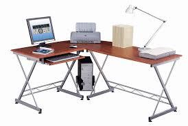 Techni Mobili Computer Desk With Side Cabinet by Techni Mobili L Shaped Work Center Mahogany Walmart Com