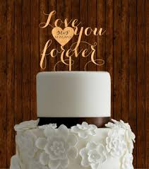 Rustic Cake Topper Wedding Wood Unique Initial Diy Country