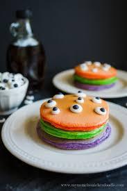 Ideas For Halloween Breakfast Foods by Halloween Trick Or Treat Pancake Recipe Halloween Tricks