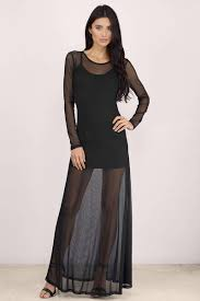 black maxi dress black dress long sleeve dress black maxi 60