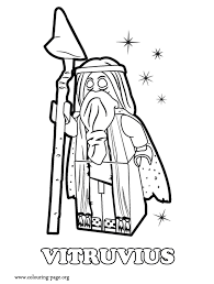 Vitruvius An Ancient Wizard Coloring Page