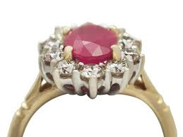 deco ruby and ring rings ruby rings vintage vintage emerald ring deco ruby ring