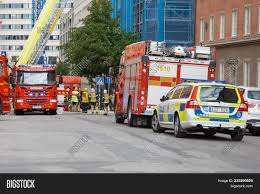 100 Red Fire Trucks Stockholm Sweden Image Photo Free Trial Bigstock