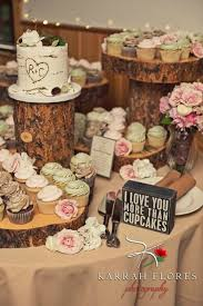 Rustic Wedding Cupcake And Tree Stump Stand