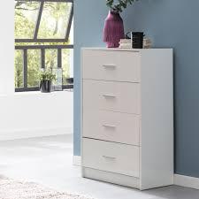 wohnling design sideboard wl5 864 weiß hochglanz 60x90x30 cm anrichte holz modern schmale schubladenkommode esszimmer kleiner allzweckschrank flur