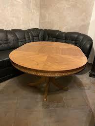 schöner runder antiker holz tisch wohnzimmer antik rund