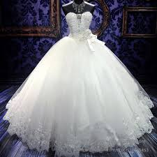 gorgeous bling corset wedding dresses rhinestones crystal bridal
