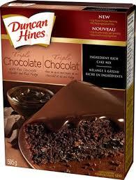 Duncan Hines Triple Chocolate cake mix 595 g