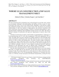 PDF Nine Tenets On The Nature Of Value