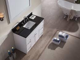 42 Inch Bathroom Vanity With Granite Top by Ace 49 Inch Transitional Single Sink Bathroom Vanity Set In White