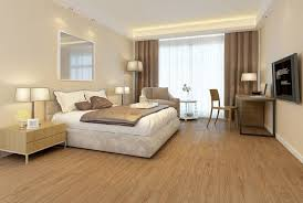 Wooden Pattern WPC LVT SPC For Hotel Bedroom 1