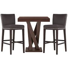 Madero Dark Brown Pub Table & 2 Barstools   Dining Room - Dining ... Sku D58332224460t Casual Pub Table Set Cottage White Brown Froshburg Grayish Brownblack Square Counter Tbl Set 5cn New Classic Brendan 6 Piece Storage Table Bench And Eucalyptus Wood Bar Height In Umber Brown Jacob 3pc Pub Beechwood World Seating Llc 24 Nice Rustic Crown Mark Hartwell Transitional Five Royal Ikea Design Ideas Camel Leather Chair Cramco Inc Trading Company Nadia Lifestyle Dc192 Cdc192p4xxxch 5 With Ladder Cherry Camden Shaker 4 Kinglet Dutch Craft Fniture