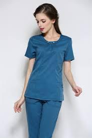 Ceil Blue Scrub Sets by 2015 Rushed Medical Suit Lab Coat Women Hospital Medical Scrub