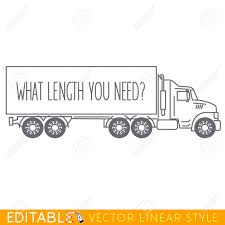 Semi Truck Side View. Editable Vector Icon In Linear Style. Royalty ... Semi Truck Clipart Pie Cliparts Big Drawings Ycfutqr Image Clip Art 28 Collection Of Driver High Quality Free Black And White Panda Free Images Wreck Truck Accident On Dumielauxepicesnet Logistics Trailer Icon Stock Vector More Business Peterbilt Pickup Semitrailer Art 1341596 Silhouette At Getdrawingscom For Personal Photos Drawing Art Gallery Diesel Download Best Gas Collection Download And Share