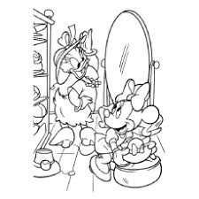 Minnie Mouse And Daisy Duck Printable Coloring Page