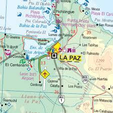Mexico Baja California Travel Refer Map WP