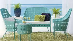 Design Of Retro Metal Patio Furniture Lawn Garden Costco And ...