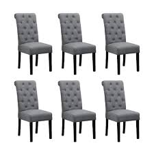 BOJU 6 Comfortable Dining Room Chairs Armless Only Set Of 6 Grey Fabric  Upholstered High Back Kitchen Chairs Side Chairs For Bedroom Living Room ... Madison County Ding Table Set With Extension Tamilo Ding Room Chair Ashley Fniture Homestore Pin On Ding Tables And Chairs Most Regard Set Cushions Chairs Comfortable Wat Indoor Covers Black Modern Mhattan Comfort York 5piece Solid Wood With 1 Table 4 540 Area Tile Wooden Patings Decorative Giantex 5 Piece Upholstered Mid Century Apartment Linen Fabric Cushioned Seats Large Amazing Brie Hooker Hill Country