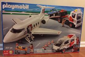 100 Towing Truck Service PLAYMOBIL 5207 MULTI AIR TRANSPORT 201pc SET Rescue Plane Tow Truck
