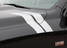 2009-2018 Dodge Ram Hood Stripes Hash Marks Double Bar Truck Decals ...