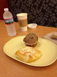 Panera Pumpkin Muffin Ingredients by Cheese Pastry And Blueberry Muffin With Pumpkin Spice Latte Yelp