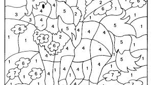 Advanced Color By Number Coloring Pages Free Numbers Printable