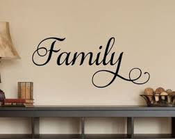 decorative words for walls family wall decal etsy