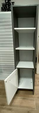 badezimmerschrank weiß hochglanz esche grau lutz