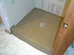 installing mortar shower pan