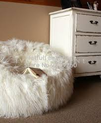 100 Furry Bean Bag Chairs For S Cover Only No Filler HAGGY IVORY OLID BACK LEANBACK LOUNGER VIDEO