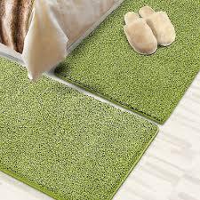 läufer shaggy bettumrandung teppich für schlafzimmer im
