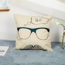 canap moustache décoratif coussin couverture cas moustache lip lettre m amour