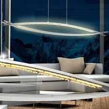 led luxus pendel leuchte bogen hänge le esszimmer