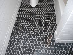 amazing hexagon tile bathroom floor home interior design ideas