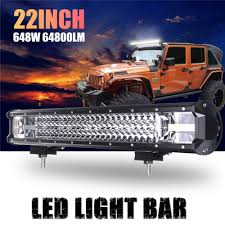 Lights Bar 22 Inch 648W 64800LM 24 LED Work Light Bar Flood Light ... 4x 4inch Led Lights Pods Reverse Driving Work Lamp Flood Truck Jeep Lighting Eaging 12 Volt Ebay Dicn 1 Pair 5in 45w Led Floodlights For Offroad China Side Spot Light 5000 Lumen 4d Pod Combo Lights Fog Atv Offroad 3 X 4 Race Beam Kc Hilites 2 Cseries C2 Backup System 519 20 468w Bar Quad Row Offroad Utv Free Shipping 10w Cree Work Light Floodlight 200w Spotlight Outdoor Landscape Sucool 2pcs One Pack Inch Square 48w Led Work Light Off Road Amazoncom Ledkingdomus 4x 27w Pod