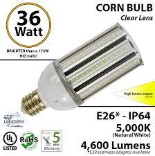 36 watt led corn bulb 175w replacement bright light ledradiant