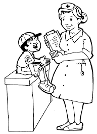 Nurses And Little Kids Coloring Pages