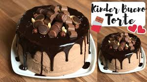 einfache schokotorte mit kinder bueno füllung i drip cake i