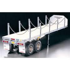 100 1 4 Scale Rc Semi Trucks Tamiya Flatbed Trailer Kit TAM56306 RC Planet