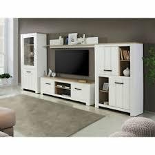 details zu wohnwand weiß matt anbauwand schrankwand wohnzimmer set elara eiche bianco