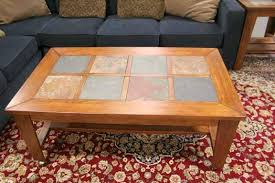 awesome tile top coffee table tile top coffee table